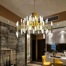 Modern şube demir sanat yıldız avize moda oturma odası restoran tema lamba Nordic ışık lüks akrilik lamba