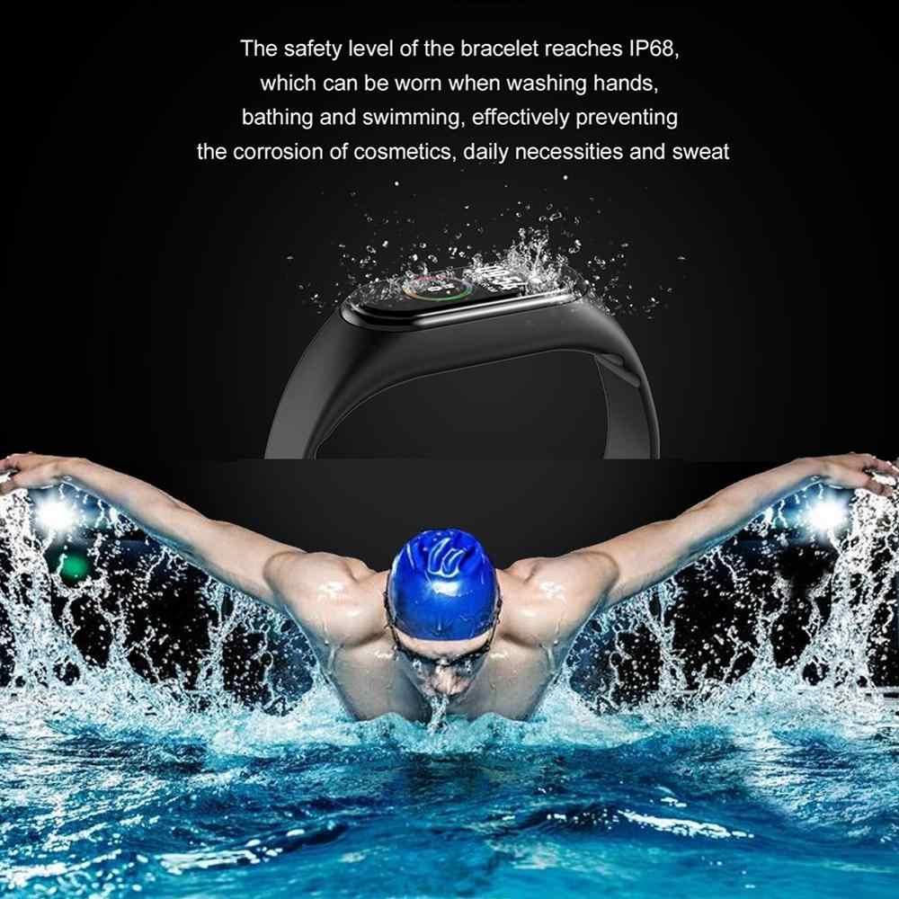 スポーツリストバンドフィットネストラッカースマート腕時計 M4 心拍数モニターブレスレットカロリー IP67 防水スマートバンド PK Miband 3/4