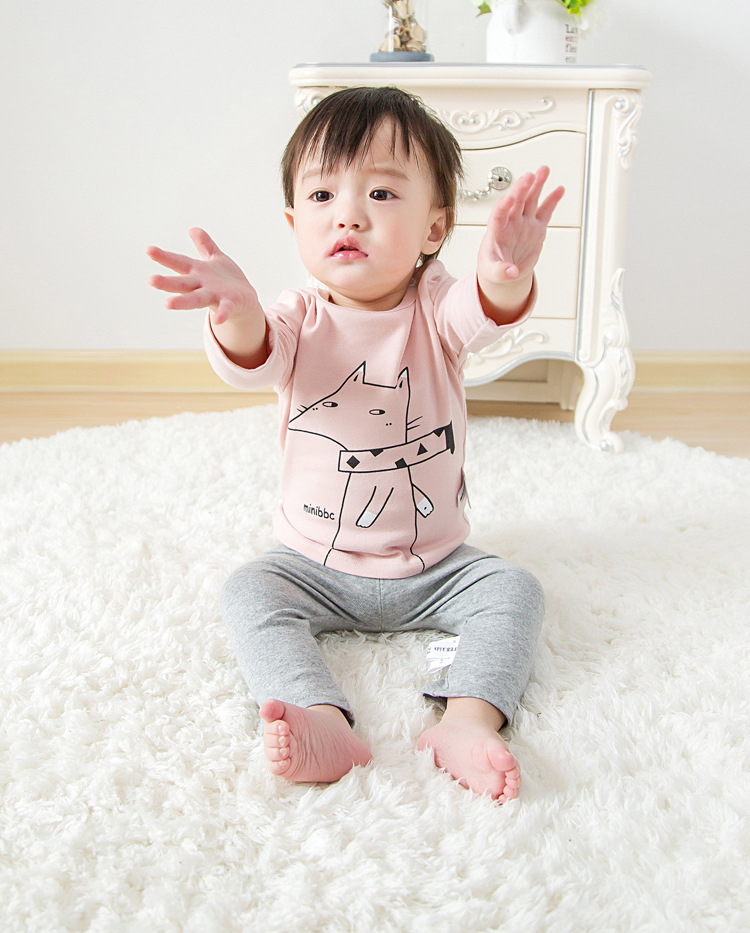2017 Toddler Kids Baby Boys Girls Infant spring Autumn Long Sleeve cartoon Fox T-Shirt Tops Clothing Cotton cloud rain T-Shirts (22)