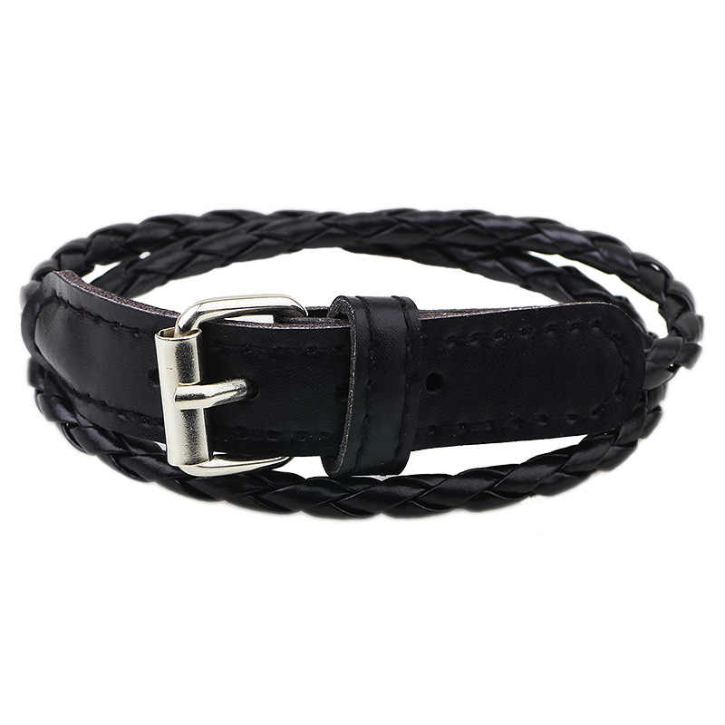 Leather Bracelets Watchband Women Men Link Chain Cuff Bangles PU Cord Charm Europe Friendship Wristbands Fashion Jewelry