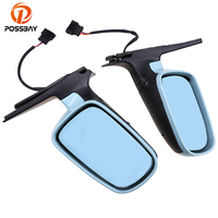 POSSBAY Car Styling Rearview Side Mirror Blue Lens Assembly for VW Golf/R32/GTI/Rabbit 2004 Car Rear View Mirror Auto Espejo