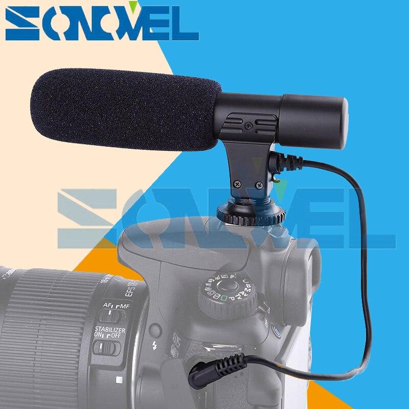 Mic-01 profesional escopeta Cámara Micrófono estéreo externo para Nikon Z7 Z6 D7500 D7200 D5600 D5500 D5300 D810 D750 D500 D5 d4