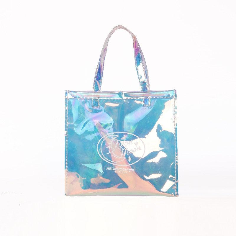 Summer Clear Bags Beach Women Handbags Hologram Glitter Transparent PVC Shopping Bags Cheap Women Bag Bolsos Transparentes Mujer
