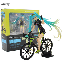 Hatsune Miku Ride Bicycle Figma 307 RACING MIKU 2015 TeaomUKYO Support Ver PVC Figure Collectible Toy