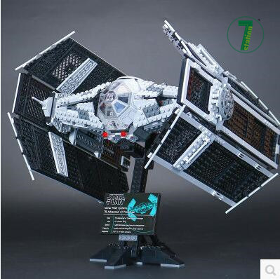 Lepin 05055 Star Series The Rogue One USC Vader TIE Advanced Fighter Set 10175 Building Blocks Bricks Educational Toys Gift 2017 new 1242pcs 05055 lepin star wars vader s tie advanced fighter model building kit figures blocks brick toy compatible 10175