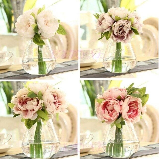 5 Голов Искусственный Цветок Пиона Гортензии Для Свадьбы Свадебный Home Decor