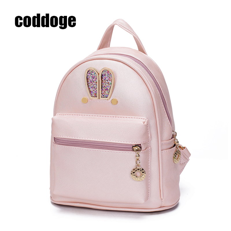 NEW Sequin Mini rabbit ear bag backpack Fashion Ladies Girls Casual Bakcpacks European and American Preppy Style women backpacks ...