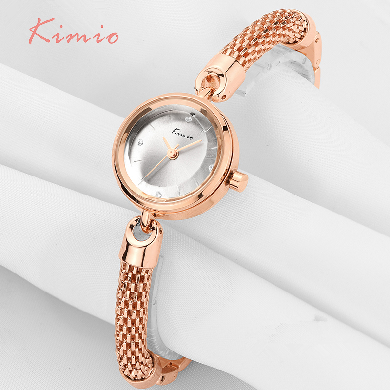 KIMIO Ladies Simple Small Dial Mesh Bracelet Band Woman Watches 2017 Brand Luxury Watch Women Gold Wrist Watches For Women Clock hot sale the fifth 2017 high quality brand watch men ladies watches gold mesh band wrist watch for women montre homme de marque