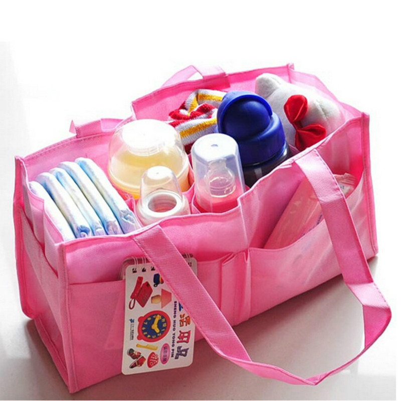 Baby Mummy Bag Bottle Storage Multifunctional Separate Bag Nappy Handbag Changing Divider Storage Bag Tote Baby Diaper Organizer