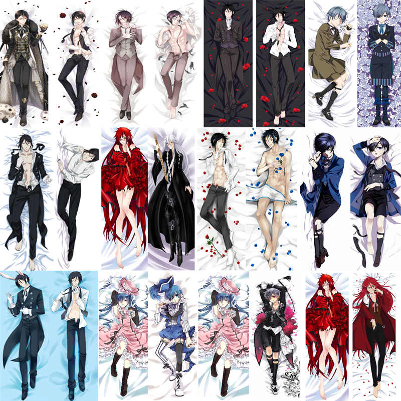 October update Anime Black Butler Undertaker Grell Sutcliff Sebastian Ciel hugging Body pillowcase Dakimakura pillow cover case