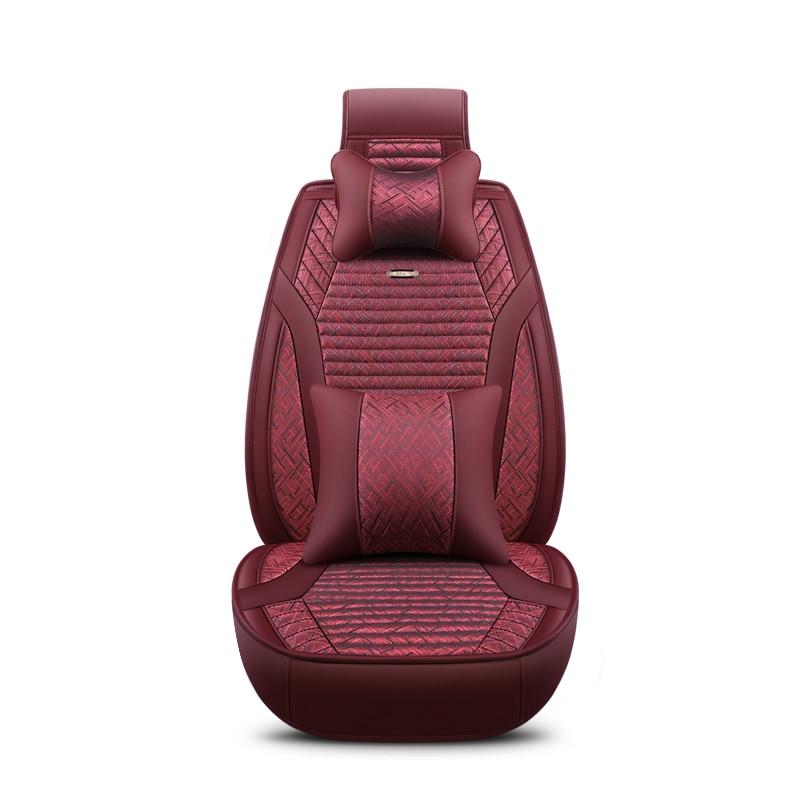 2018 новый лен универсальные чехлы сидений автомобиля 5 авто Подушки Fit VOLVO S60 Geely Emgrand X7 Skoda Octavia A5 быстрого тюнинг автомобилей