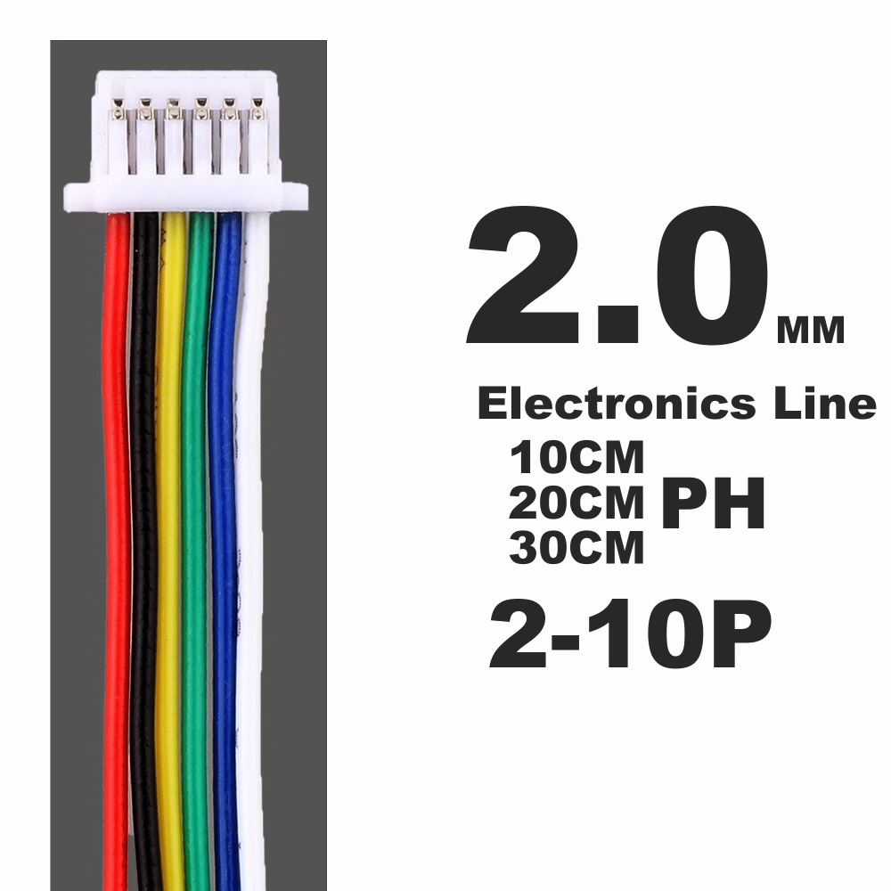 5PCS PH2.0 Terminal Line 10CM 20CM 30CM 2 3 4 5 6 7 8 9 10 11 12P Connect Plug-in Unit Electronics Line 2.0 MM Spacing Connector велосумка подседельная merida 11 5 5 7 8 3 cm крепление на ремешке черно зеленый 2276003357