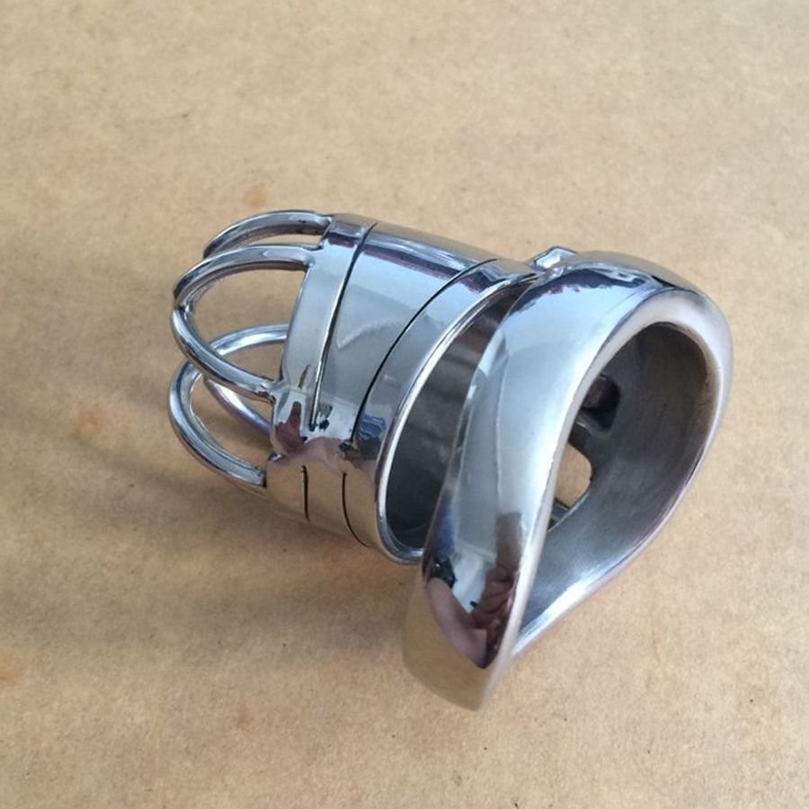 ФОТО 65mm New lock Male Chastity Device Adult Cock Cage Sex Toy 304 Stainless Steel Chastity Belt Sex Product S040