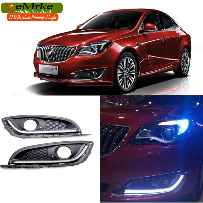 eeMrke Car LED DRL For Holden Opel Vauxhall Insignia Yellow Turn Signal Xenon White Fog Cover Daytime Running Lights Kits fouriers hb mb014 320 mtb mountain bike swallow shaped rise handlebar carbon fiber mountain diameter 31 8mm x width 660mm