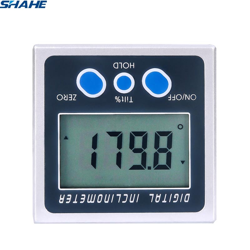 shahe 2*180 Mini Digital Inclinometer  Eelectronic Protractor Bevel Box magnetic base Angle Meter Angle Measurement