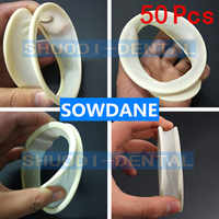 50 Pcs Dental Oral Care Lips and Cheeks Mouth Opener Latex Oral Rubber Dam for Teeth Whitening Orthodontic Cheek Retractor