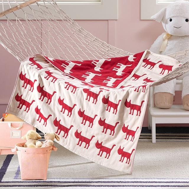 Conjunto de Cama Cobertores Do Bebê Do Algodão Gaze de Musselina Swaddle do bebê Crianças toalha de banho Grande 4 Camadas Recém-nascidos Carseat Capa Jacquard Etamine