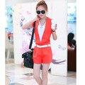 Производители, продающие 2015 лето женщин новая мода дамы небольшой ароматный Сиамские шорты два костюма женский оптовая