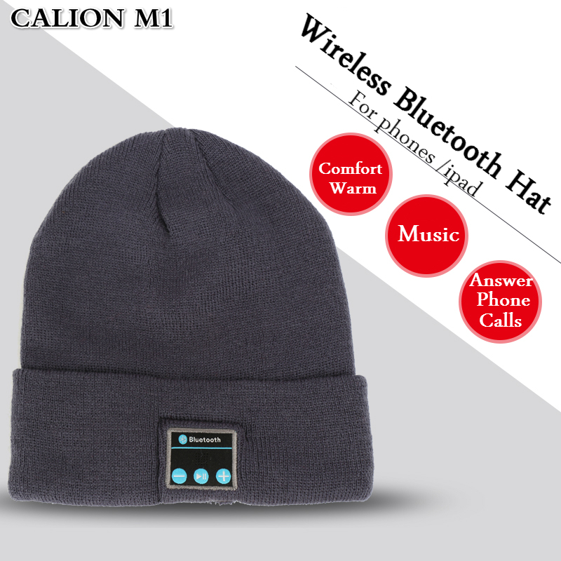 CALION M1 Men Women Outdoor Sport Wireless Bluetooth Earphone Stereo Magic Music Hat Smart Electronics Hat for iPhone SmartPhone bluetooth beanie hat and touchscreen gloves knitted bluetooth music hat built in stereo speakers winter hat for outdoor sports