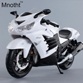 New Arrival 1:12 Scale Kawasaki Motorcycle Diecast Models White Alloy Motorcycle Racing Model Toys Gift Kids Model Toys