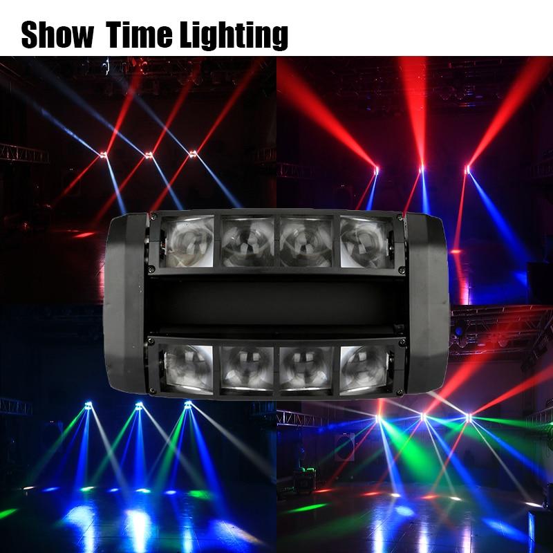 FAST การจัดส่งดิสโก้ที่มีประสิทธิภาพ LED DJ Light ใช้สำหรับปาร์ตี้ KTV บาร์ LED Beam Spider Moving Head Light Show Home ความบันเทิง ...