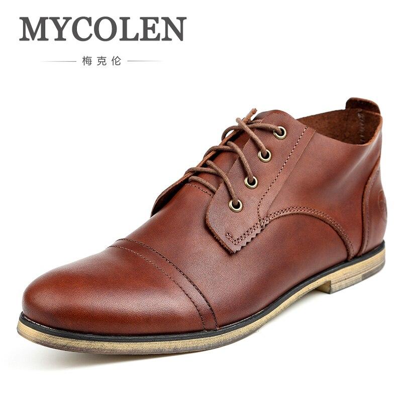 MYCOLEN Winter Men Boots 2018 Warm Boots Men Winter Boots Business Casual Shoes Men Footwear Fashion Ankle Shoes Erkek Bot цены онлайн