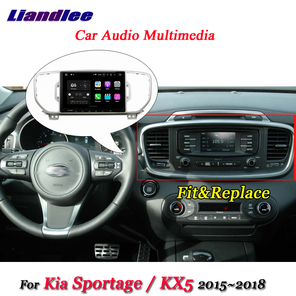 Liandlee Car Android System For Kia Sportage QL / KX5 2015~2018 Stereo Radio Video BT GPS Map Navi Navigation Multimedia No DVD автомобильный dvd плеер hotaudio 4 4 4 kia sportage 2010 dvd gps navi dhl ems