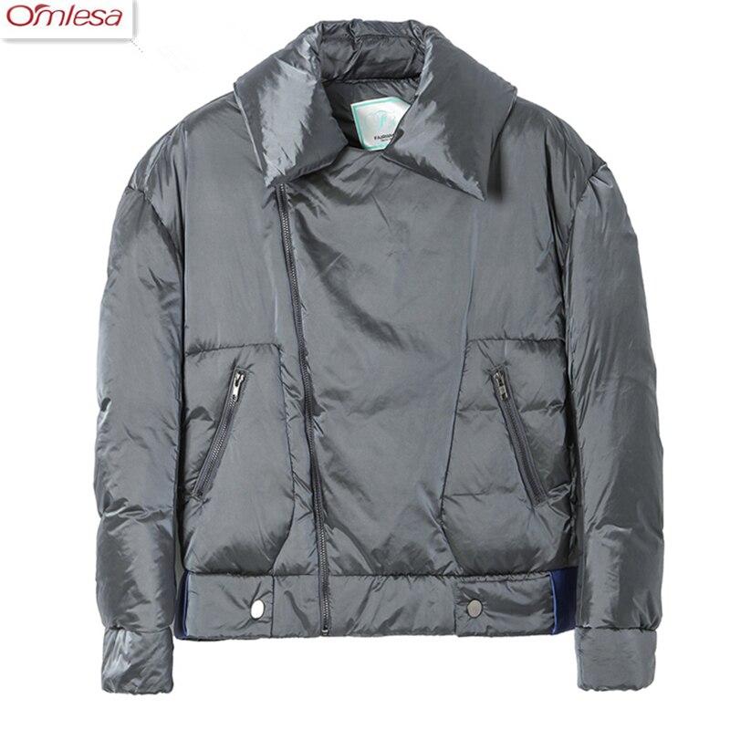 OMLESA 2017 Ladies Autumn Winter New Down Coat Women Fashion Warm Jacket Ladies Stand Collar Jacket ZA458 2017 winter new ladies down jacket