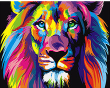 1 Panel Hand painted Painting Modern Lion Animals DIY By Numbers Kits Oil Canvas Unique Gift Home Decor Wall Artwork