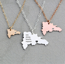 Dominican Republic Necklace Country Pendant Travel Necklaces Engraved Charm Drop Shipping Accepted YP6095 все цены