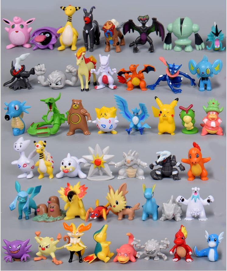 24/48/72pcs Pcs Action Figure  Pokemones   Toys Children Birthday Christmas Gifts 2-3cm Mini Anime Toy Figures For Children