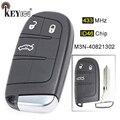 KEYECU 433 МГц ID46 чип M3N-40821302 замена 3 кнопки дистанционный смарт ключ-брелок для Jeep Grand Cherokee 2013 2014 2015