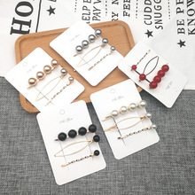 Word folder Hair Jewelry For Women Side Clamp Hairpin Fashion Trendy Pearl Ladies Accessories