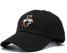 New Fashion Unisex Snapback Sun Hat Flamingoe Embroidery Cotton Baseball Caps Women Men Solid Color Dad Hats Casquette Homme