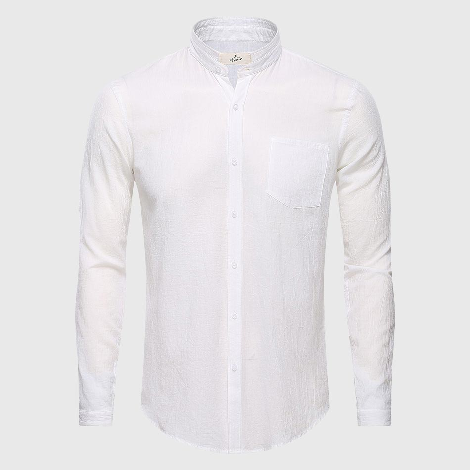 Ultrathin See Through Shirts Men Summer Solid Plain Mandarin ...