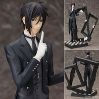 1Pcs Black Butler Book Of Circus Sebastian Michaelis PVC Action Figure Collectible Model Toy 25cm Free Shipping