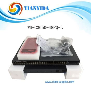 WS-C3650-48PQ-L Layer 3 48 Port Switch Gigabit Stackable PoE Network Switches poe switch 8 port network switches hub full duplex
