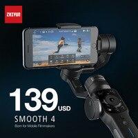 Zhi Yun Zhiyun Smooth Q 4 Gimbal 3 Axis Brushless Handheld Phone Stabilizer For IPhone X