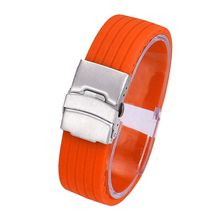 4 Color Watch Band Waterproof Silicone Rubber Watch Strap Deployment Buckle Watchbands 18~24mm