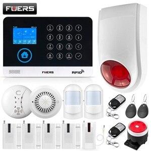 Image 1 - FUERS WIFI GSM מערכת אזעקה אלחוטי בית פורץ אבטחת אזעקה 9 LNG להחלפה RFID LCD PIR עשן חיישן APP בקרה