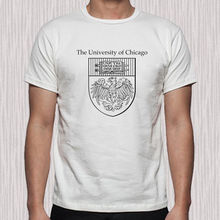 Chicago Famous College University Logo Mens White T Shirt Short Sleeve Cotton