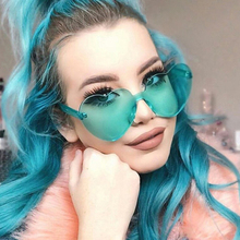 Heart Sunglasses Women Candy Color Transparent Clear Lens Sun Glasses Shades Fashion Style Club Party Cosplay