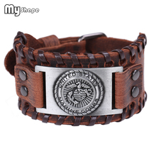 My Shape Handmade Weave United States Marine Corps Bracelet Genuine Leather Black Brown Bangles Copper Bronze Silver Men Jewelry the united states marine corps workout rev