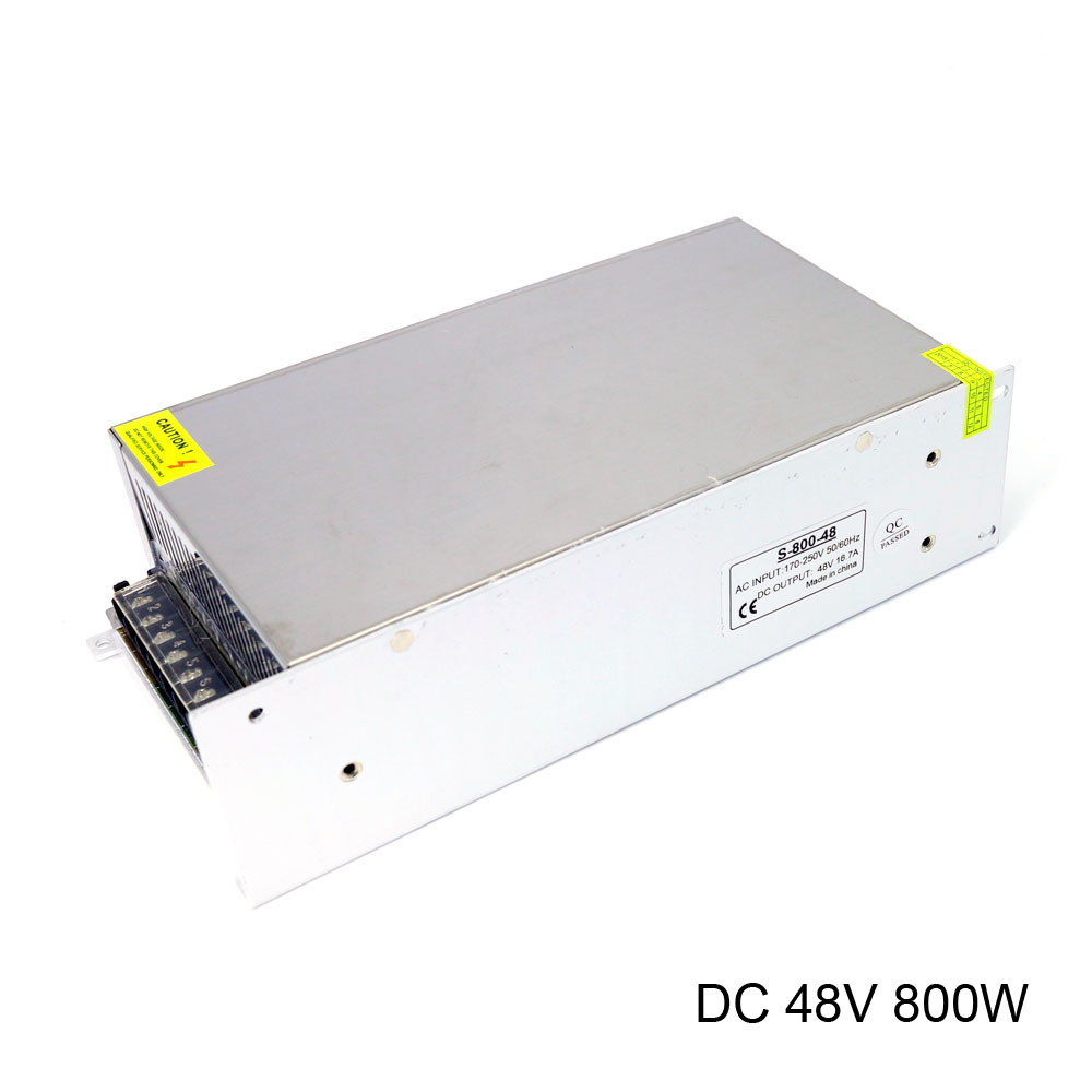 DC 48V Switching Power Supply AC 170-250V 220V Input DC 48V 800W 16.7A Ouput Universal Led Driver Power supply tdc1230 400w 200 250v input ac dc power switching adapter power supply for balance charger