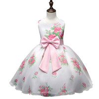 Summer Brand Girls Clothes Princess Flower Girl Wedding Dress Toddler Girl Party Wear Children Frocks Designs