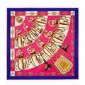 2016 women silk scarf130*130cm womans spring summer100%silk scarf  brand fashion flower print silk shawls wraps scarves pashmina