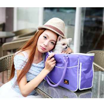 2017 New Pet Carrier Bag Cat Dog Soft sided Portable Car Tote Crate Travel Cage 1