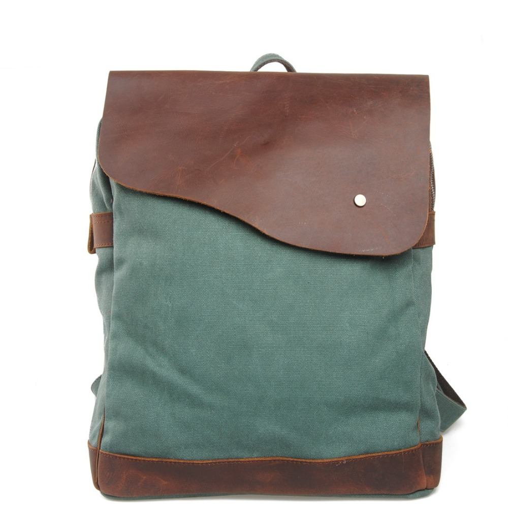 M065 Quality Leather Canvas Backpack Men Military Backpack Boy Girl Vintage Thick Canvas School Backpack Shoulder Bag Rucksack army green canvas backpack bag rucksack army military backpack leather canvas book bag rucksack school bag