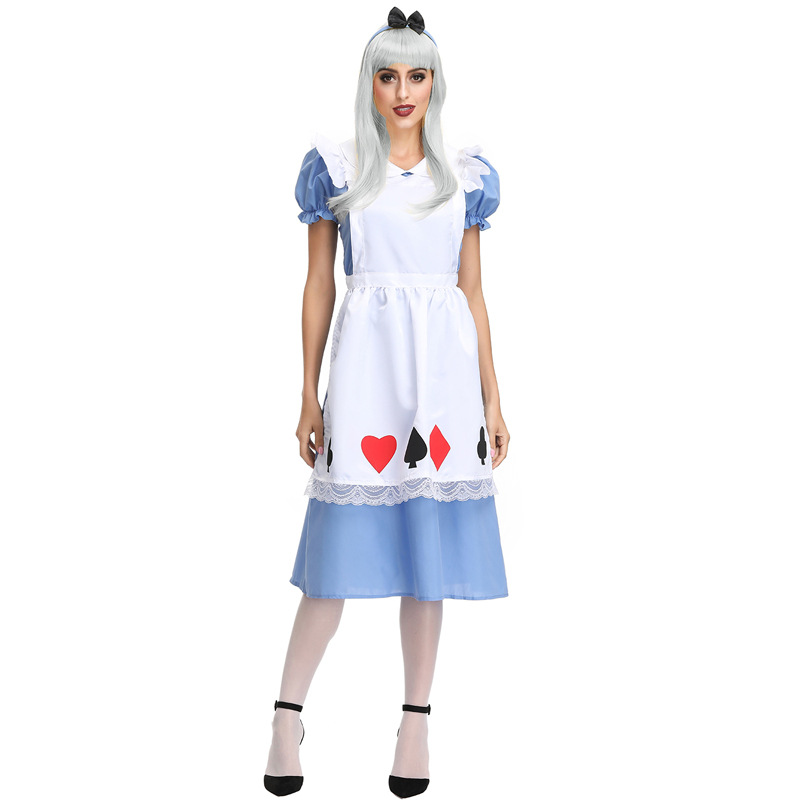 Alice In Wonderland Costume Cosplay For Women Maid Dress Hallloween Costume For Women Carnival Performance Party Dress in Movie TV costumes from Novelty Special Use