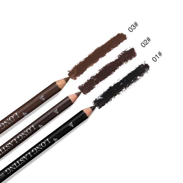 MENOW 3 Colors Black Eyebrow Pencils for Women Waterproof Brown Eye Brow Pencil Makeup Beauty Brows Pen Cosmetic Tools Maquiagem 3
